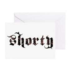 Shorty (Gothic Lettering) Greeting Cards (Package