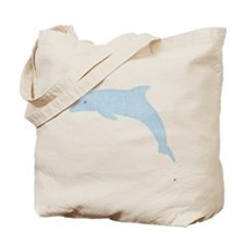 Dolphin in Circles Tote Bag