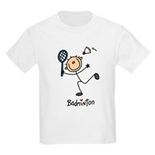 Badminton Stick Figure T-Shirt