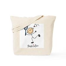 Badminton Stick Figure Tote Bag