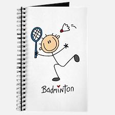 Badminton Stick Figure Journal