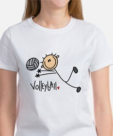 Volleyball Stick Figure Tee