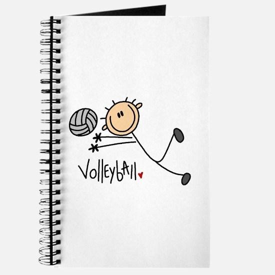 Volleyball Stick Figure Journal
