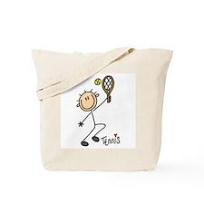 Tennis Stick Figure Tote Bag
