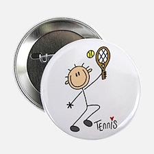 "Tennis Stick Figure 2.25"" Button"