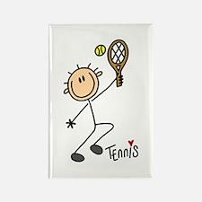 Tennis Stick Figure Rectangle Magnet