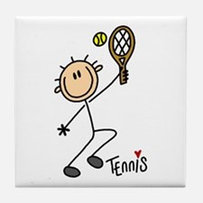 Tennis Stick Figure Tile Coaster