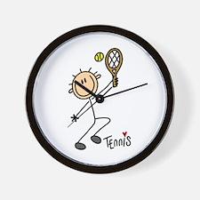 Tennis Stick Figure Wall Clock