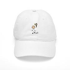 Tennis Stick Figure Baseball Cap