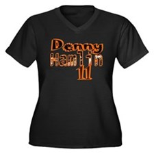 Denny Hamlin Women's Plus Size V-Neck Dark T-Shirt