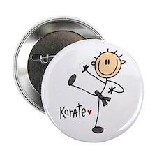 """Karate Stick Figure 2.25"""" Button"""