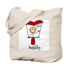 HangGliding Stick Figure Tote Bag
