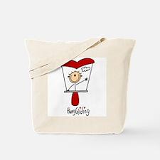 HangGliding Stick Figure Tote Bag