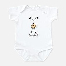 Gymnastics Stick Figure Infant Bodysuit
