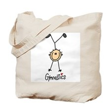 Gymnastics Stick Figure Tote Bag