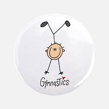"Gymnastics Stick Figure 3.5"" Button"