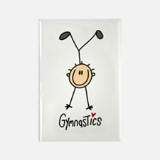 Gymnastics Stick Figure Rectangle Magnet