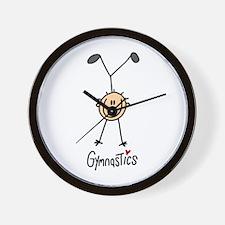Gymnastics Stick Figure Wall Clock