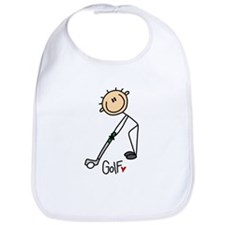 Golf Stick Figure Bib