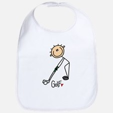 Golf Stick Figure Bib