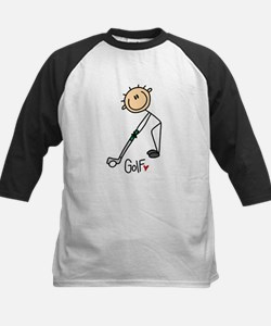 Golf Stick Figure Kids Baseball Jersey