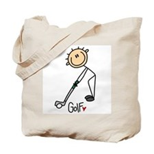Golf Stick Figure Tote Bag
