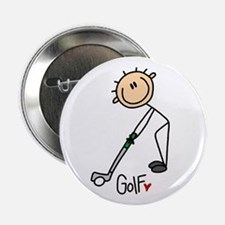 """Golf Stick Figure 2.25"""" Button"""