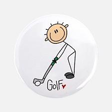 """Golf Stick Figure 3.5"""" Button"""