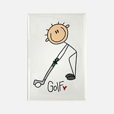 Golf Stick Figure Rectangle Magnet