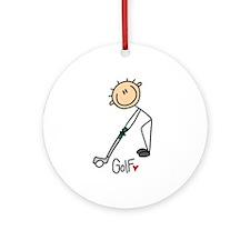 Golf Stick Figure Ornament (Round)