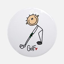 Golf Stick Figure Ornament (Round)