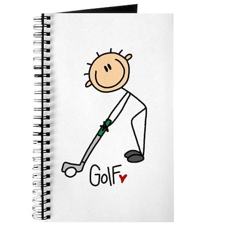 Golf Stick Figure Journal