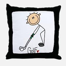 Golf Stick Figure Throw Pillow
