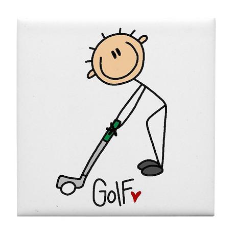Golf Stick Figure Tile Coaster