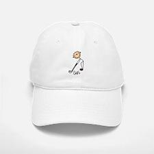 Golf Stick Figure Cap