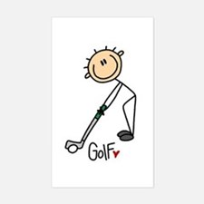 Golf Stick Figure Rectangle Decal