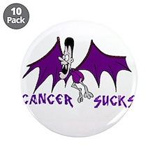 """Cute Cancer sucks 3.5"""" Button (10 pack)"""