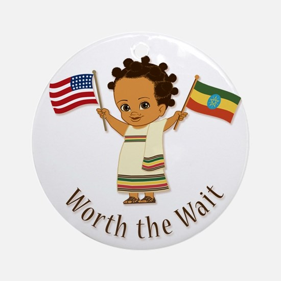 Worth The Wait Ethiopia Adoption Ornament (girl)