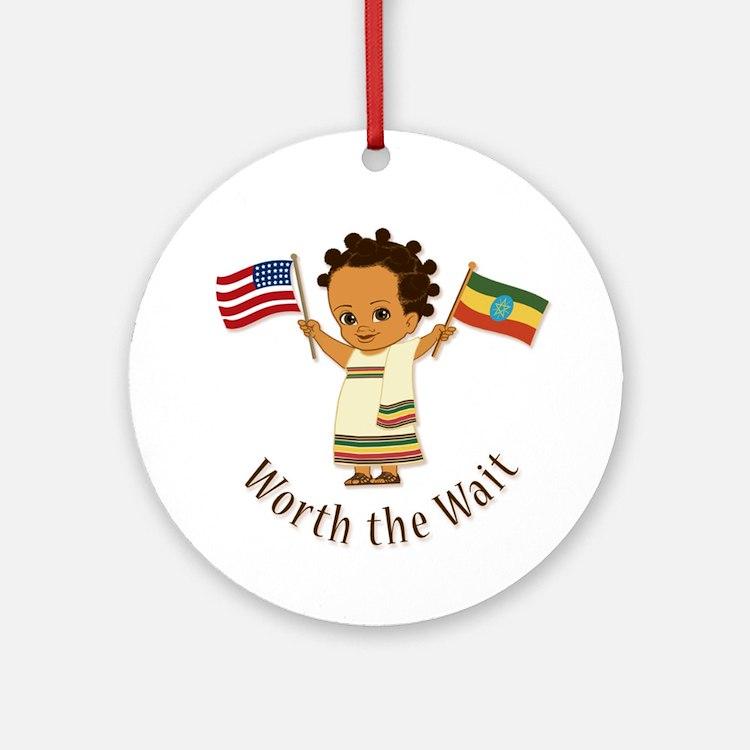 Worth The Wait Ethiopia Adoption Ornament (girl)