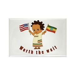 Worth the Wait Ethiopia Adoption Magnet (10 pack)
