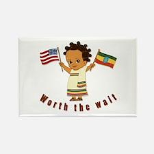 Worth the Wait Ethiopia Adoption Rectangle Magnet