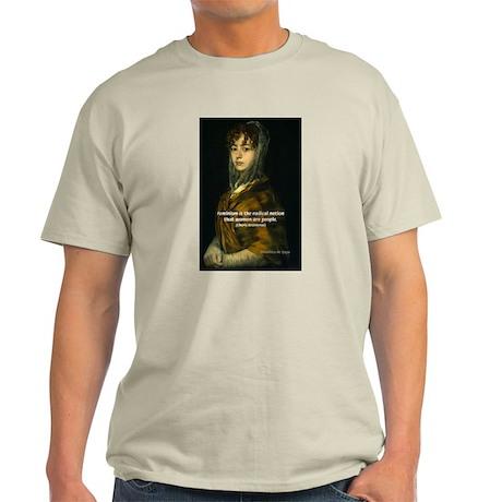 Sexuality Feminism Goya Ash Grey T-Shirt