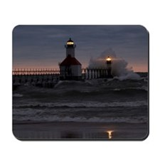 St Joe North Pier Lighthouses Mousepad