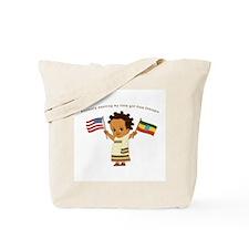 Anxiously Awaiting girl Ethiopia Adoption Tote Bag