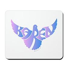 Karen (Blue and Pink Bird) Mousepad