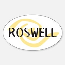 Roswell Logo Merchandise Oval Decal