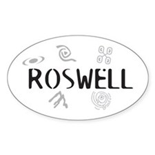 Roswell Logo Merchandise Oval Stickers