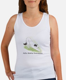 Downward Facing Dog with Text Women's Tank Top