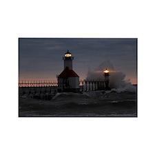 St Joe North Pier Lighthouses Rectangle Magnet