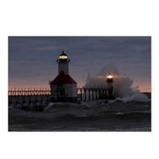 St Joe North Pier Lighthouses Postcards (Pkg 8)